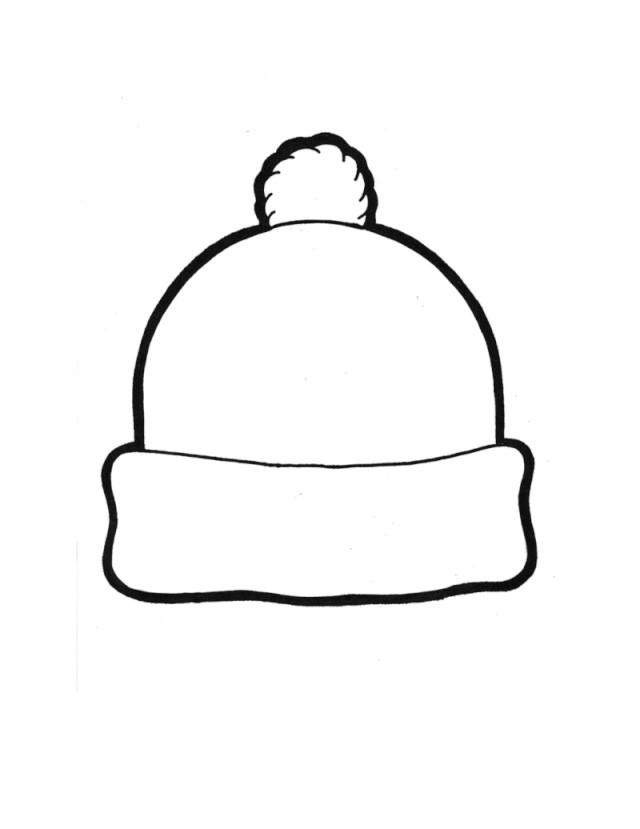 Top Hat Template for Kids Coloriage Hiver Maternelle Les Beaux Dessins De