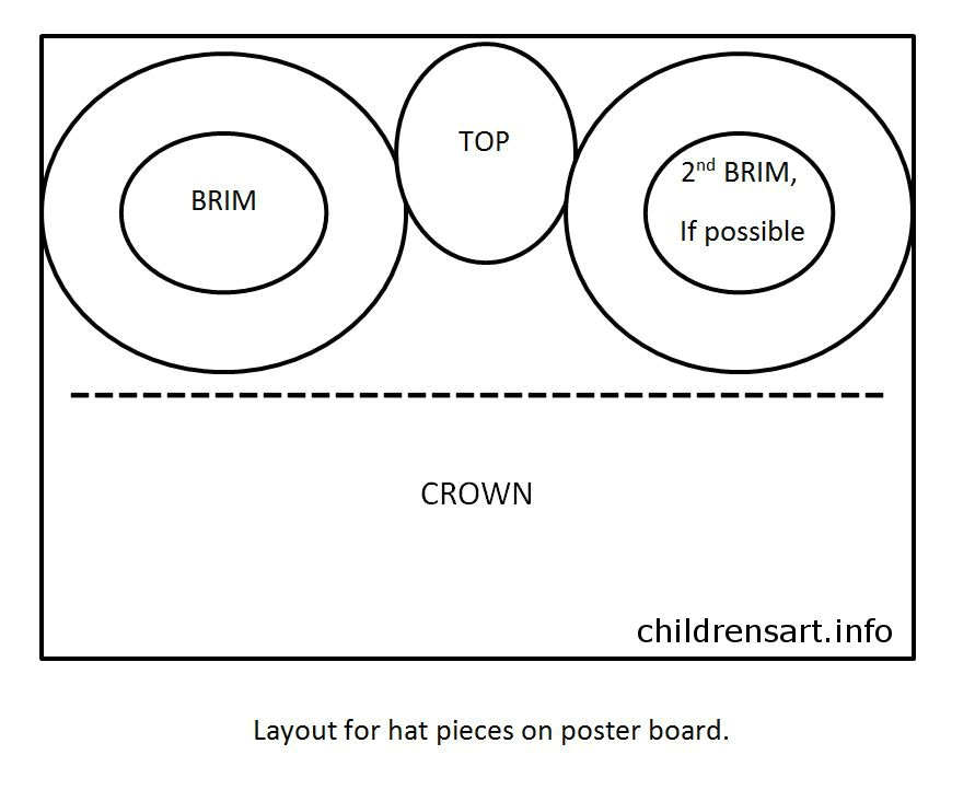 Top Hat Template for Kids Paper top Hats
