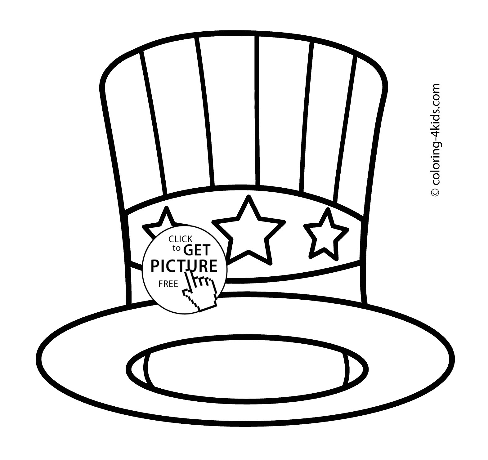Top Hat Template for Kids top Hat Coloring Pages to Print Coloring for Kids 2018