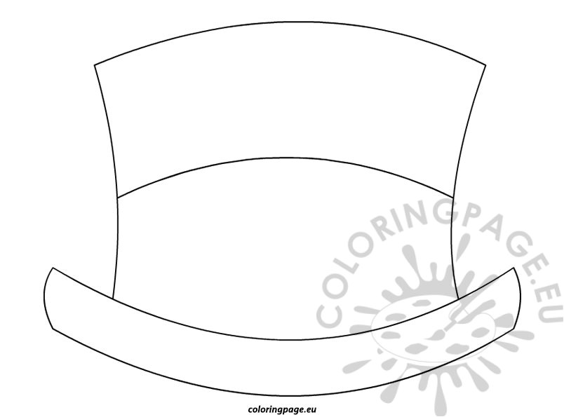 top hat template for kids