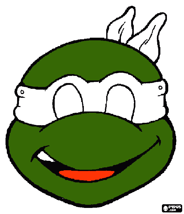 Tortoise Mask Template Ninja Turtles Face Coloring Pages