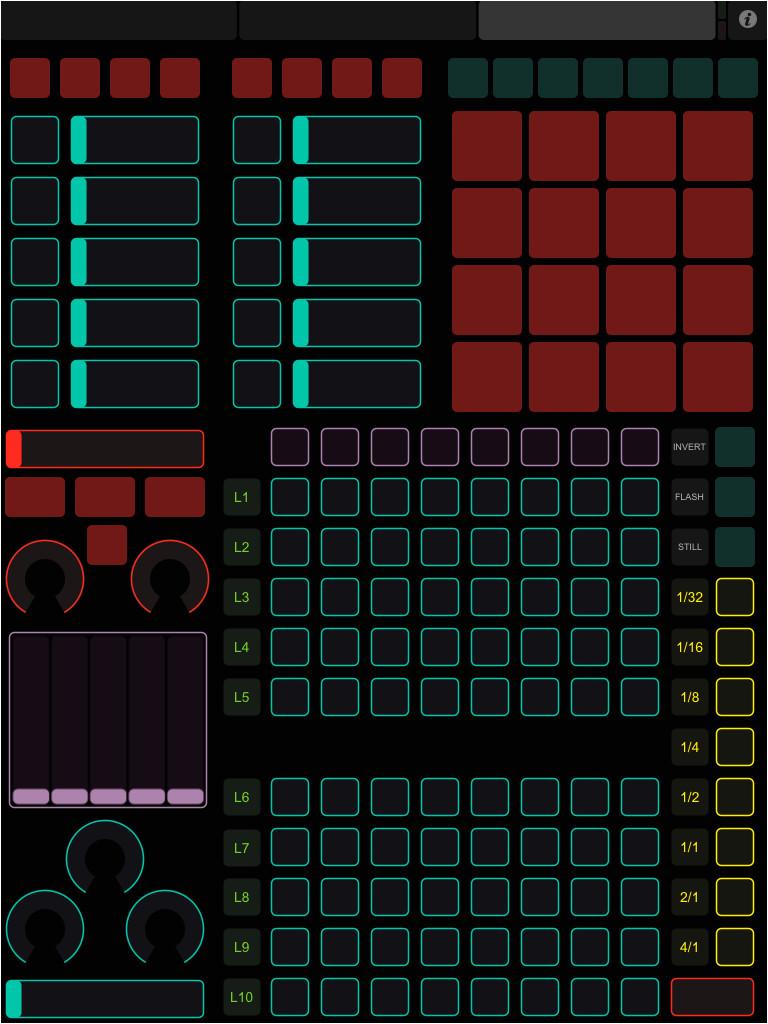ipad touchosc template para modul8 y ableton live