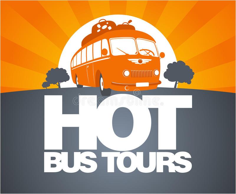 Tour Bus Design Template Hot Bus tour Design Template Stock Vector Image 28018089