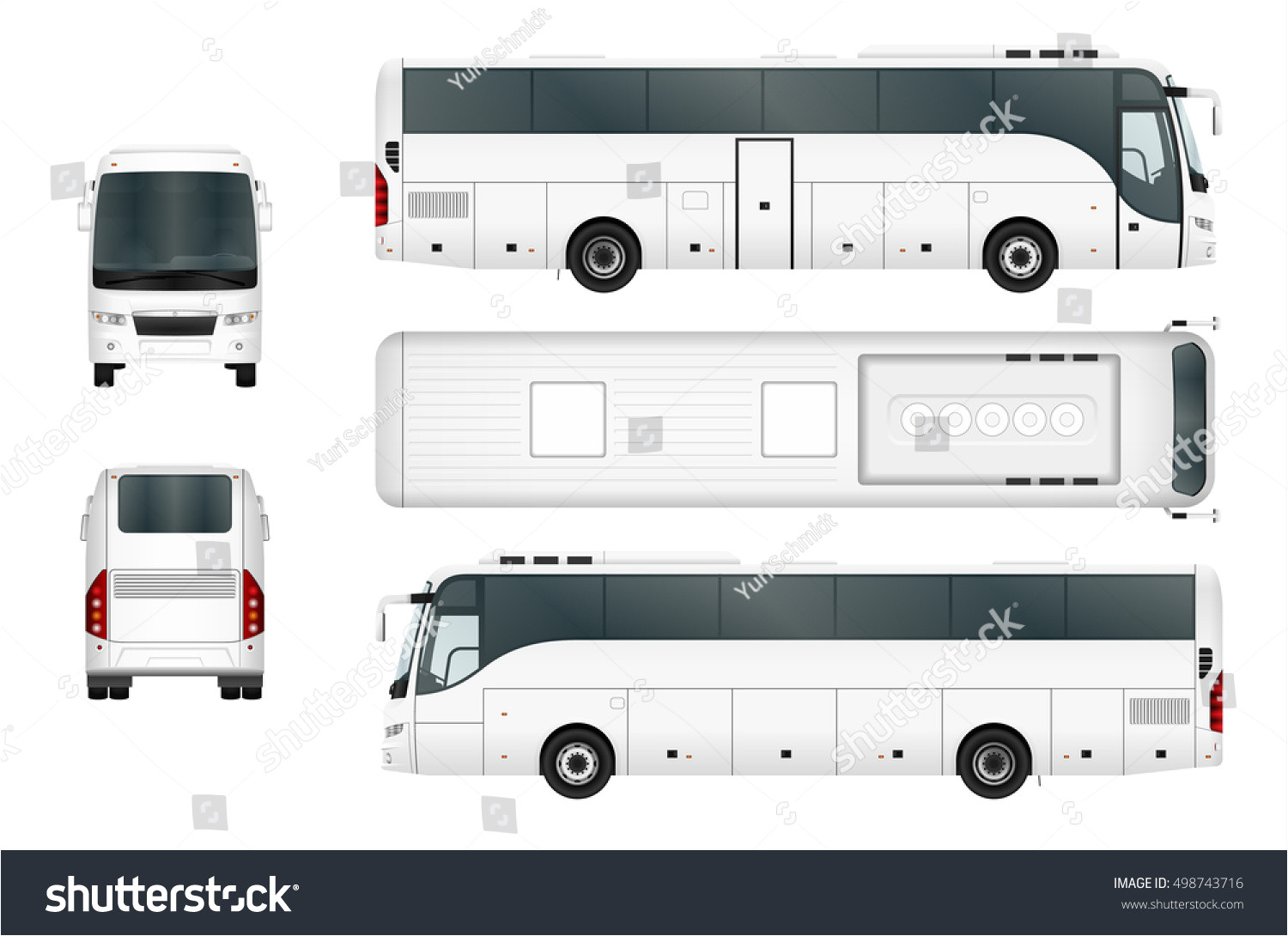 vector bus template isolated on white 498743716