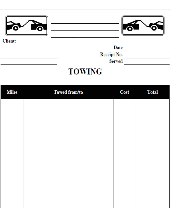 company receipt template