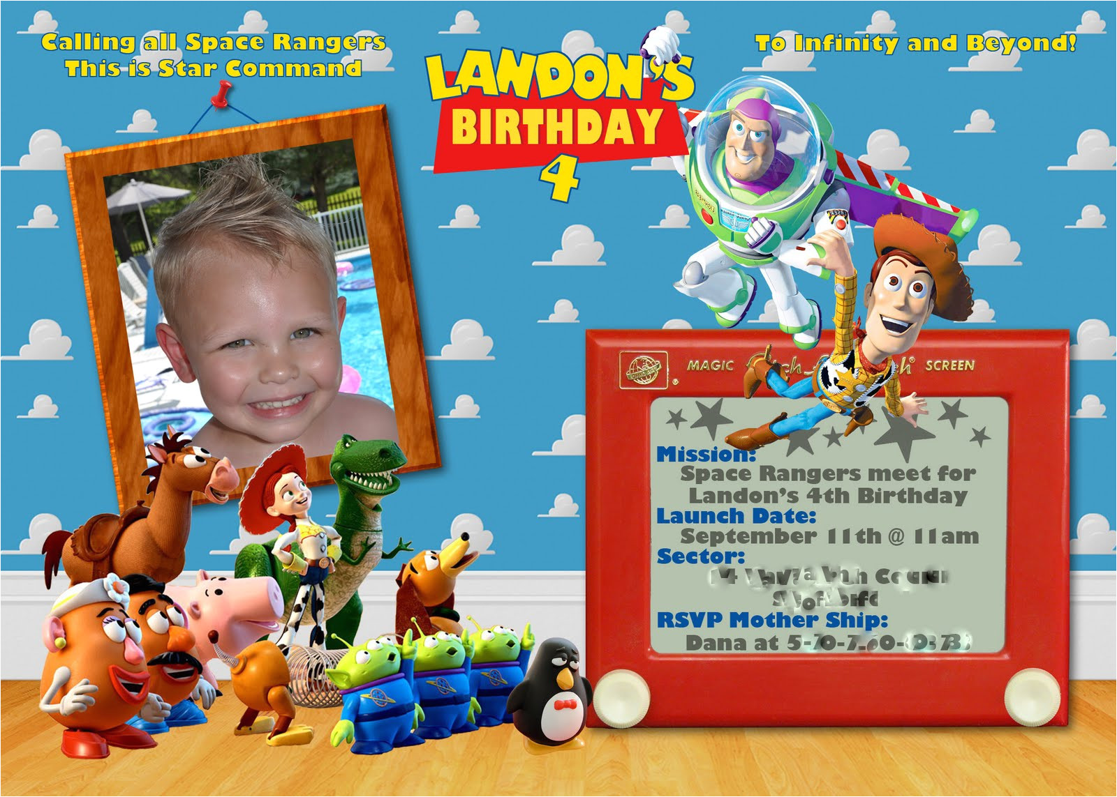 Toy Story Invites Templates Free 40th Birthday Ideas toy Story Birthday Invitation
