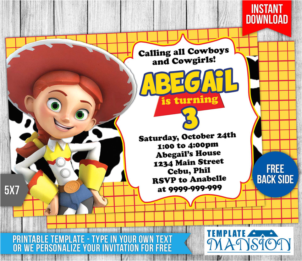 Toy Story Invites Templates Free toy Story Birthday Invitation Template 5 by