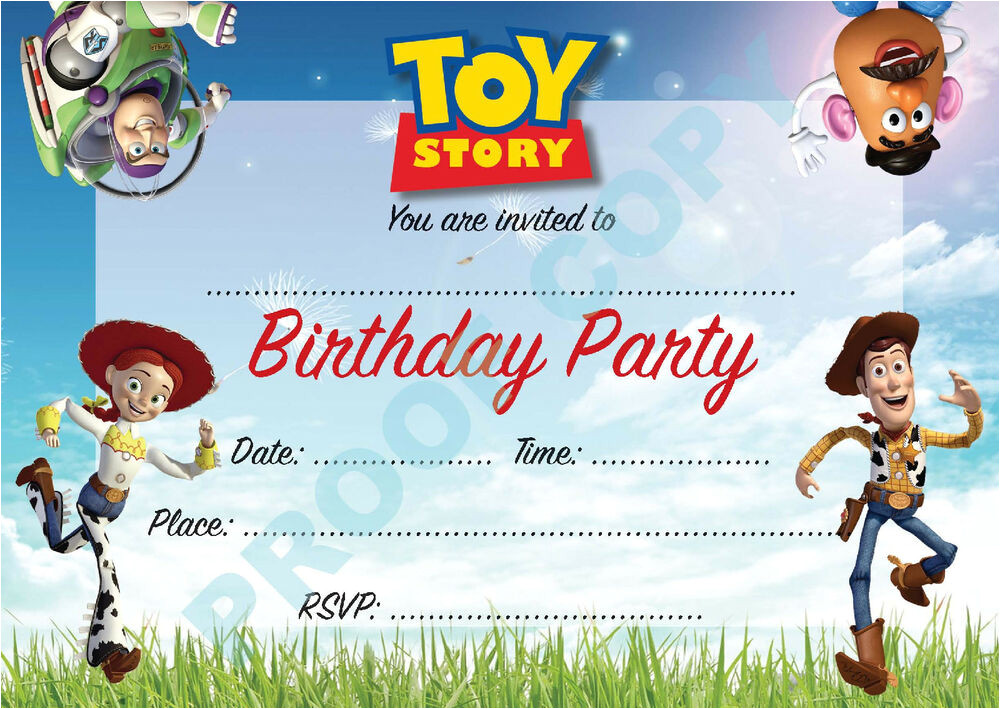 Toy Story Invites Templates Free toy Story Buzz Woody Kids Children Birthday Party