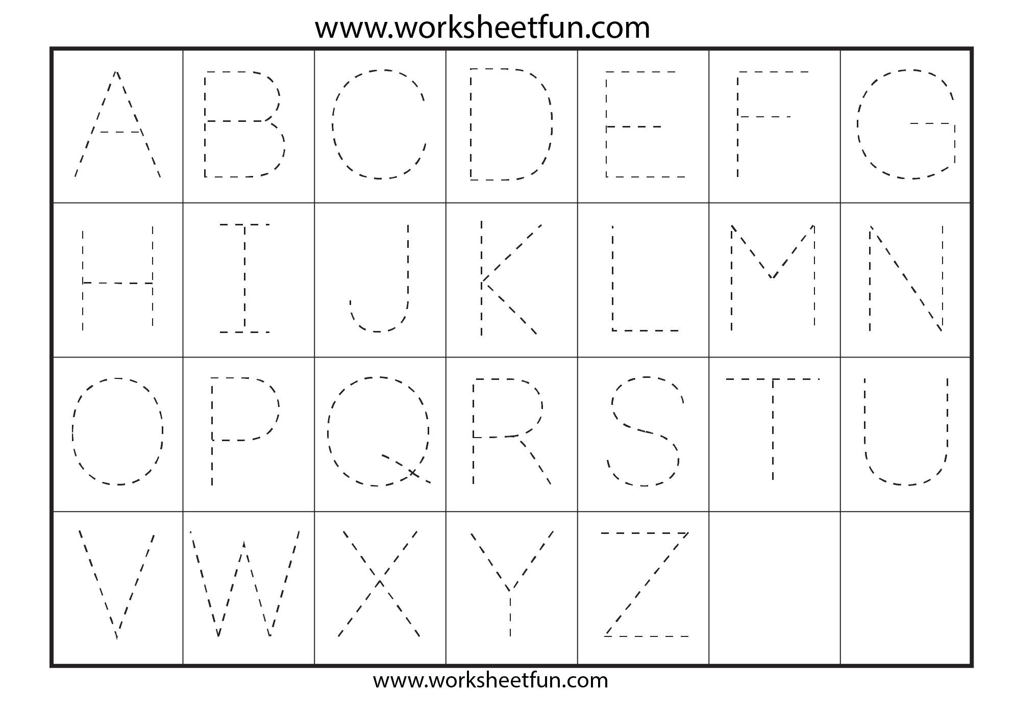 letter tracing 7 worksheets