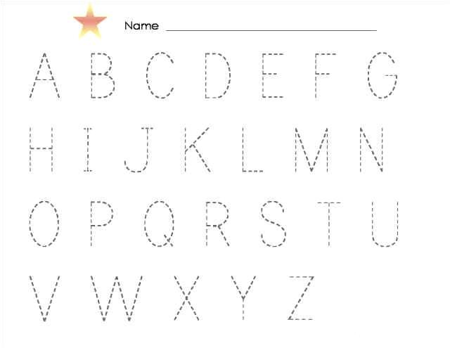 Traceable Alphabet Templates Tracing Alphabet Abc Kiddo Shelter