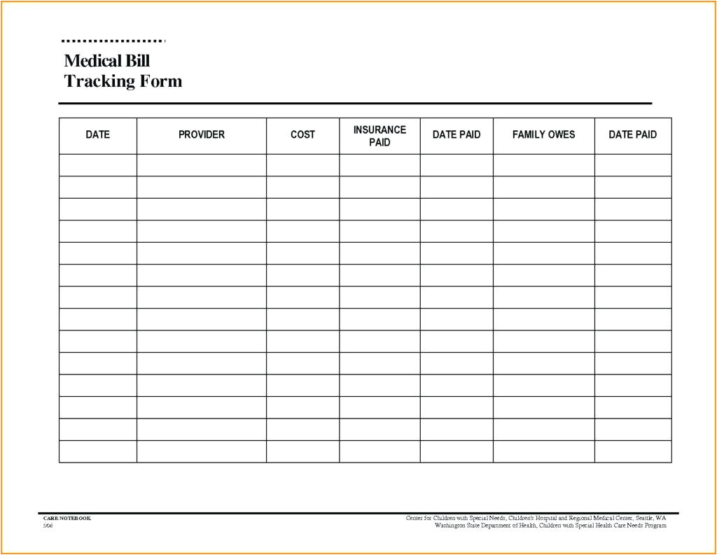 tracking sheet template for teachers