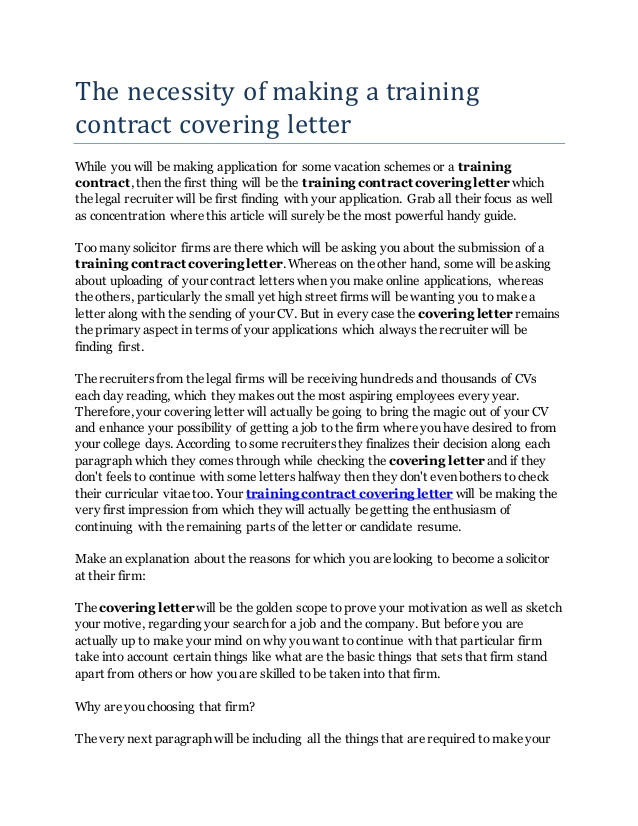 Trainee solicitor Cover Letter Covering Letter Legal Training Contract Sludgeport473