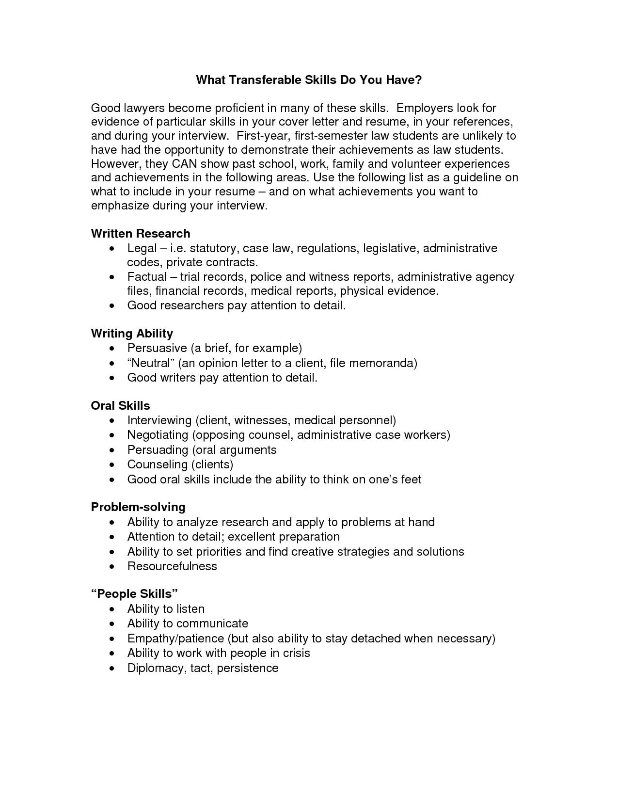 post cover letter for transferable skills 459271