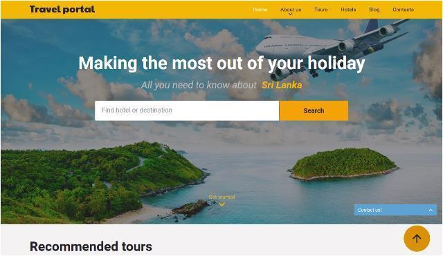 Travel Portal Templates 25 Free and Premium HTML Travel Website Templates Webprecis