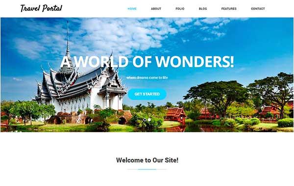 travel portal html5 css3 template