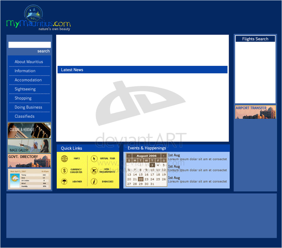 travel portal web template 90793085