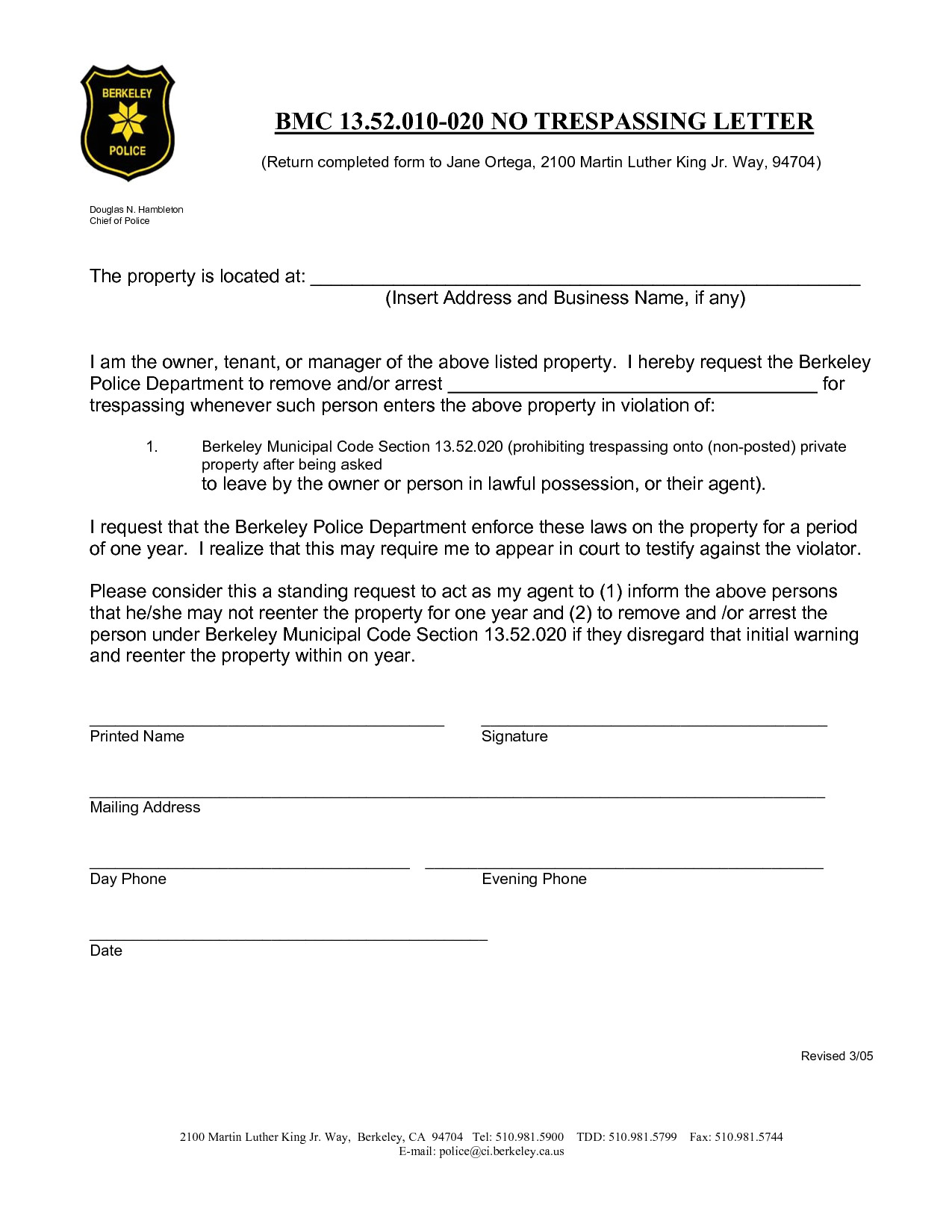 Trespass Notice Template 10 Best Images Of No Trespassing Notice Letter No
