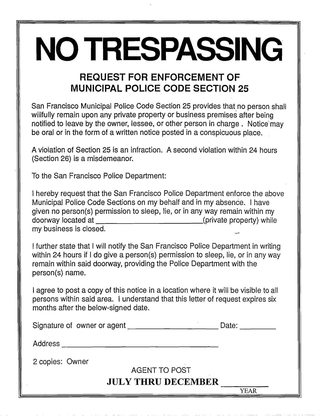 Trespass Notice Template Best Photos Of No Trespassing Notice Letter No Trespass