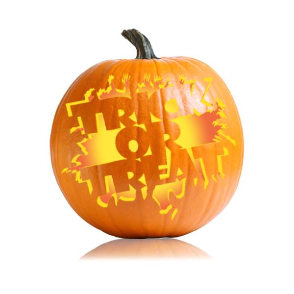 trick or treat pumpkin stencil