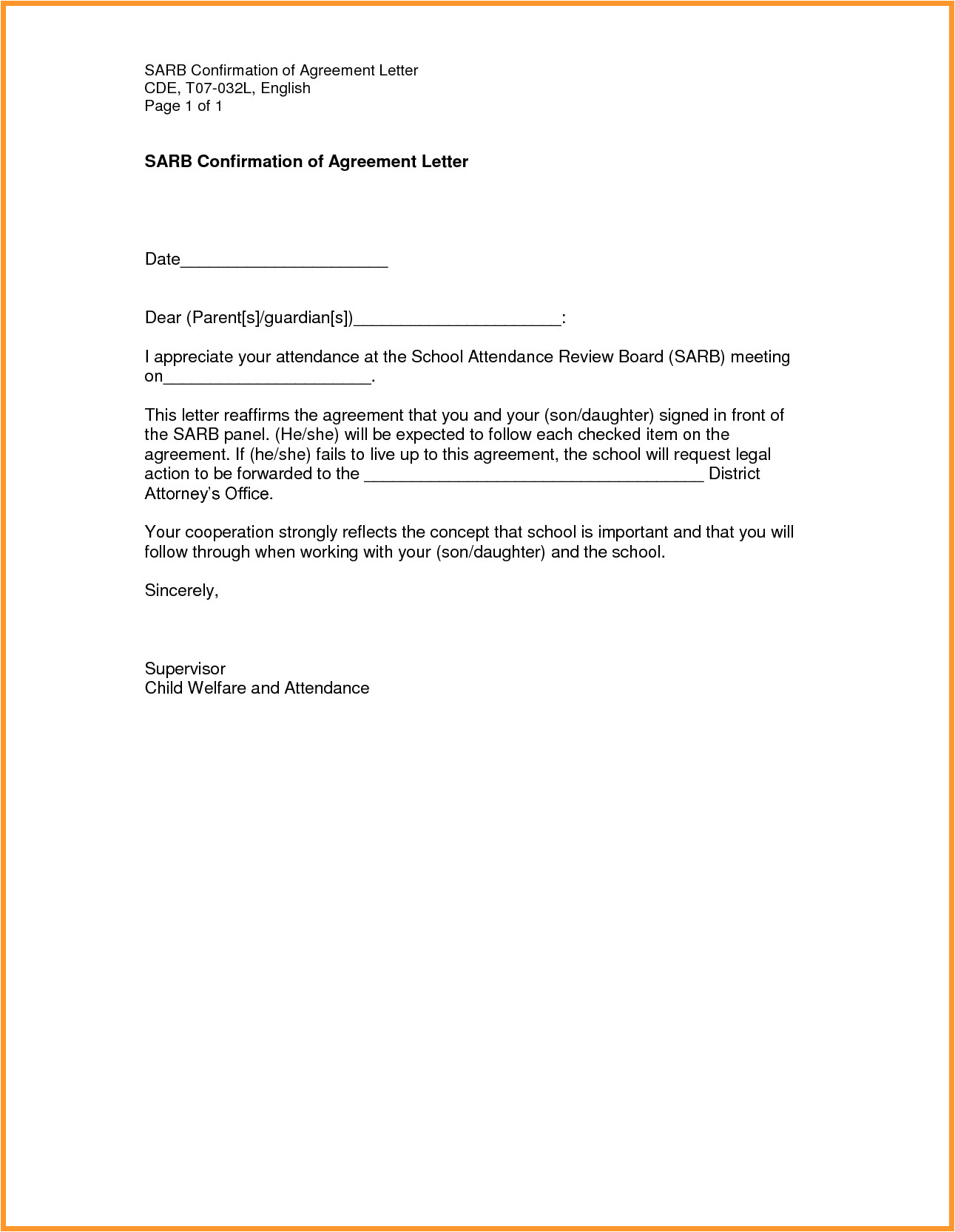Truancy Letter Template 4 5 Letter Of Absence From School Sample Fedupflyers org