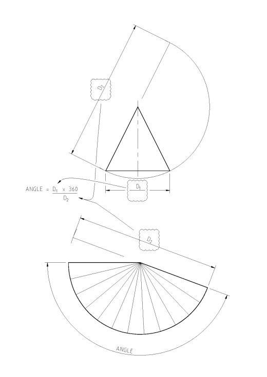 Truncated Cone Template How to Develop A Cone Cone Development