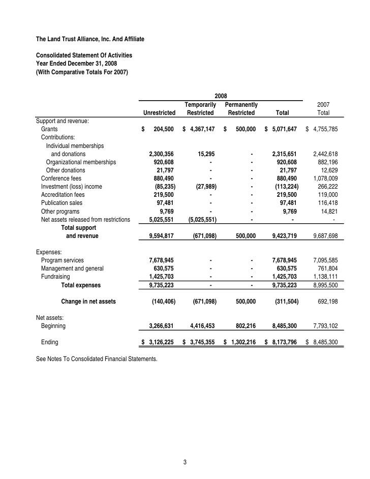 Trust Financial Statements Template Financial Statement Template