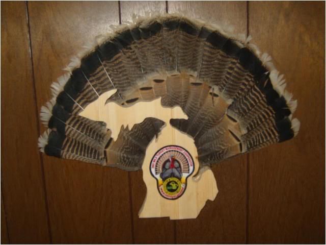 turkey fan mount template