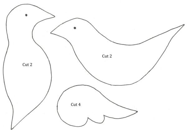bird christmas decoration template