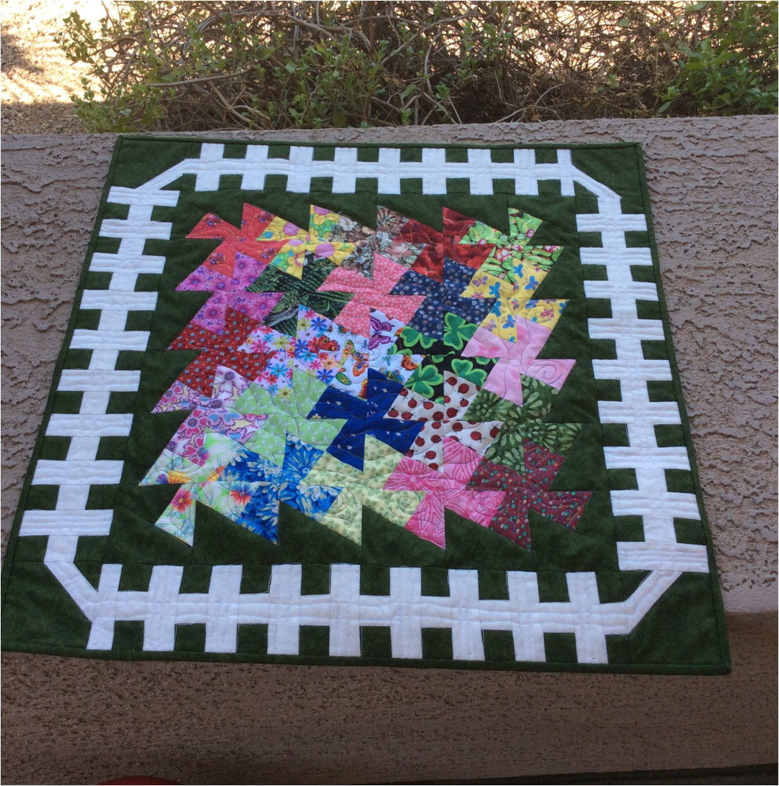 Twister Quilt Template Garden Twister Quilt Pattern Quilted Table topper Wall