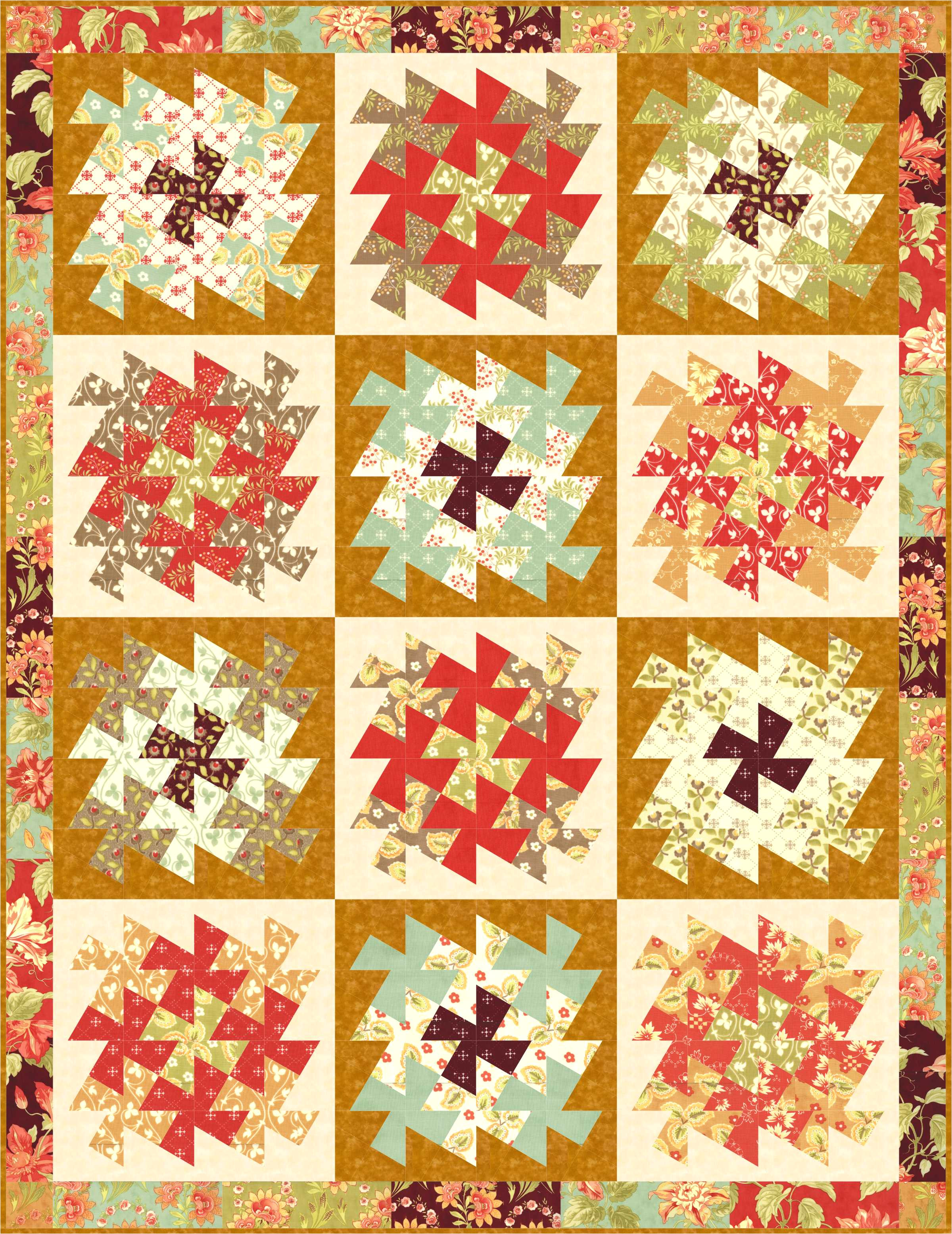 pinwheel patterns for lil twister and twister tool