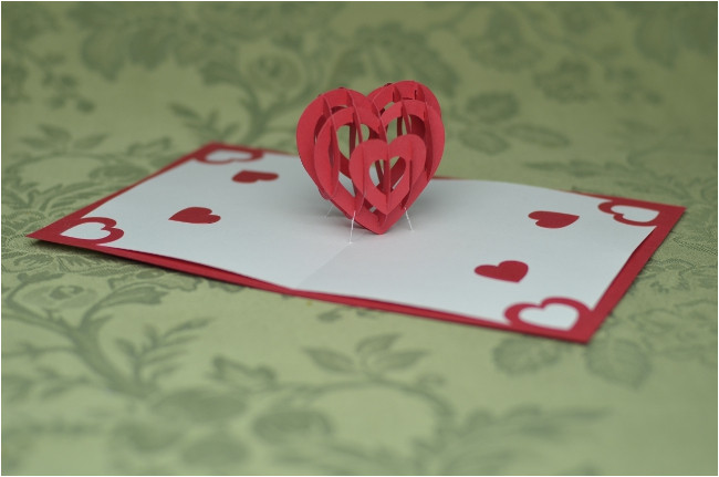 free spiral valentine pop up card templates