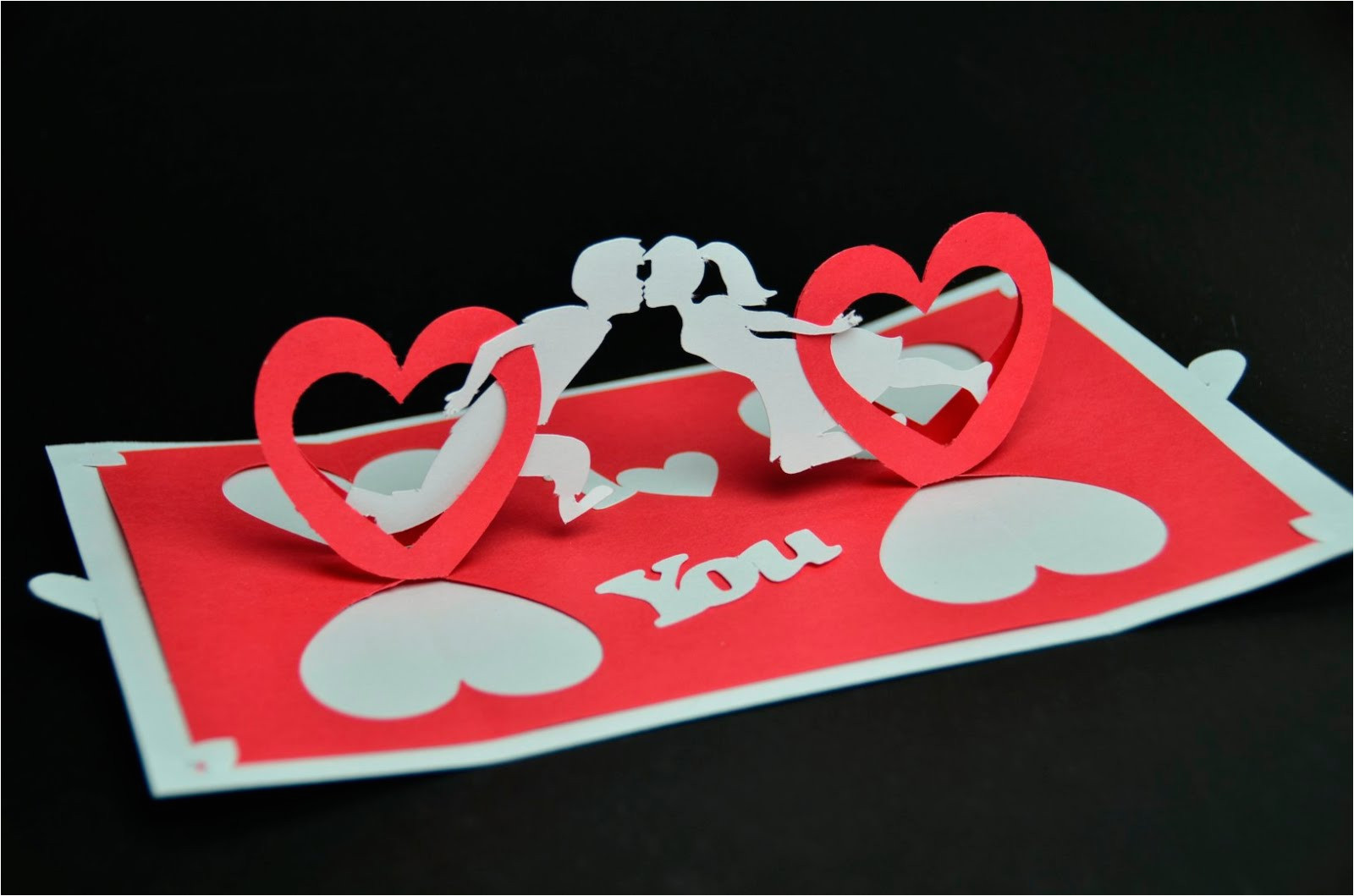 create valentines day pop up card