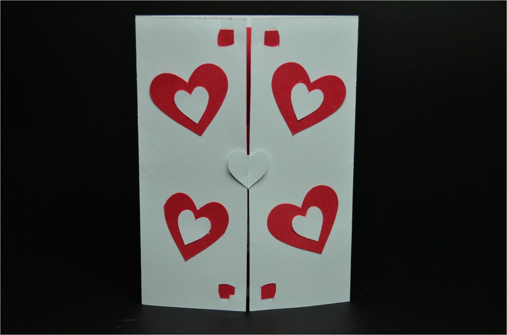 twisting hearts pop up card template