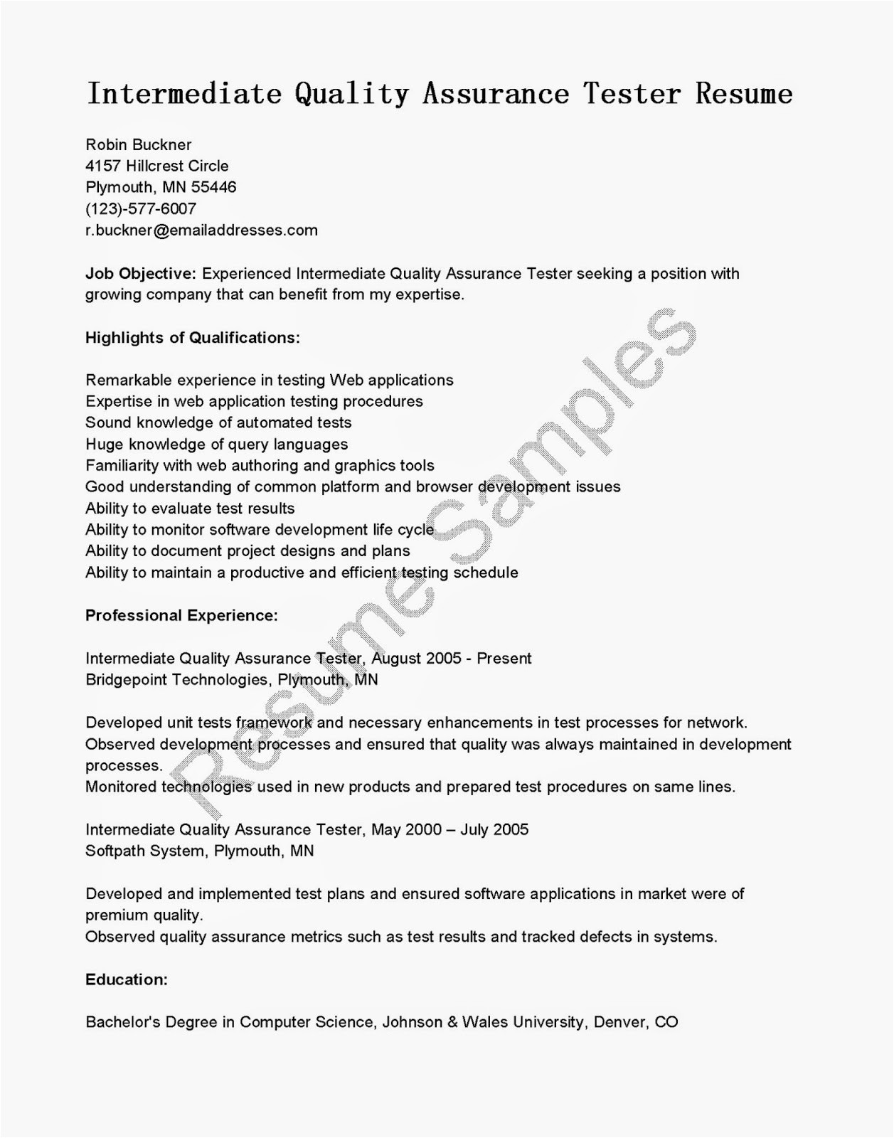 software testing resume samples 2 years experience