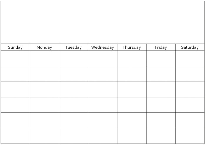 Type On Calendar Template Monthly Calendar to Print and Fill Out Calendar