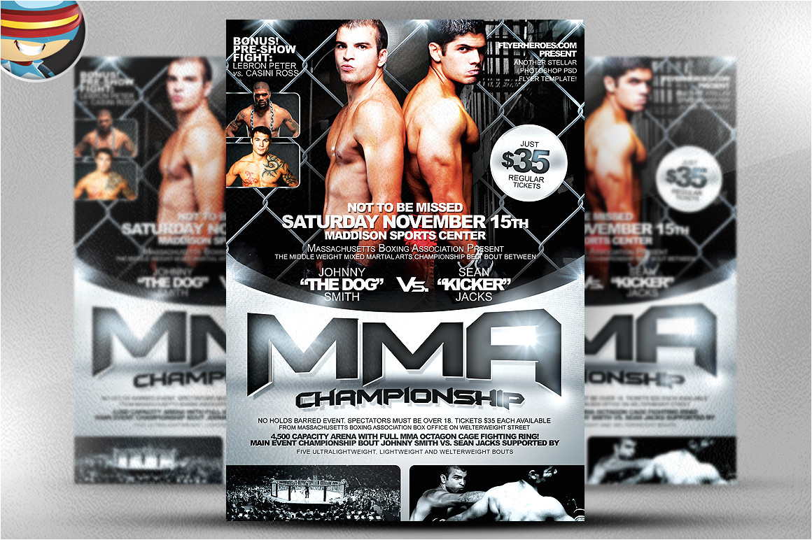 21248 mma flyer template