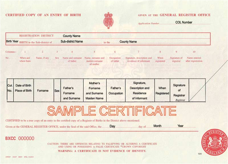 Uk Death Certificate Template Uk Birth Marriage and Death Certificates