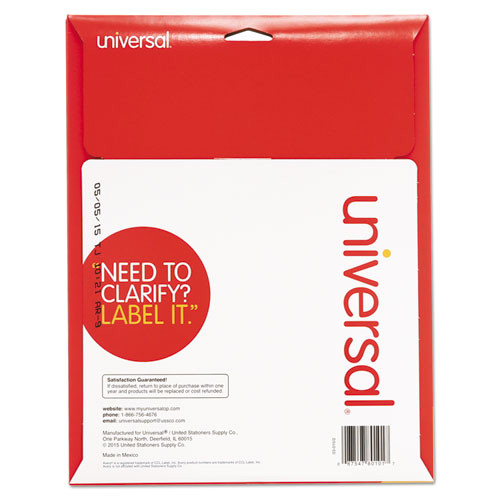 laser printer permanent labels 1 x 2 58 white 750pack unv80101