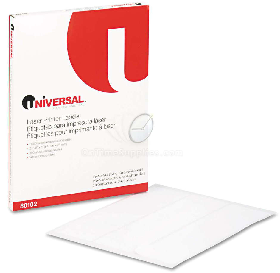 Universal Laser Printer Labels Template Unv80102 Laser Address Labels by Universal