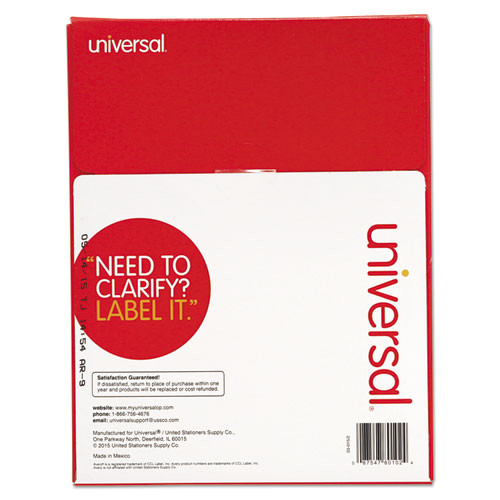 laser printer permanent labels 1 x 2 58 white 3000box unv80102