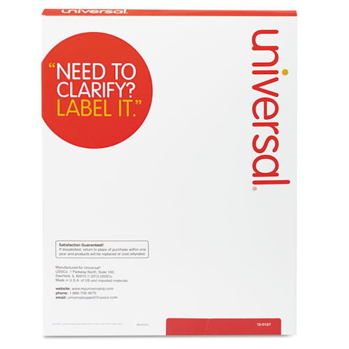 laser printer permanent labels 1 13 x 4 white 1400box unv80106