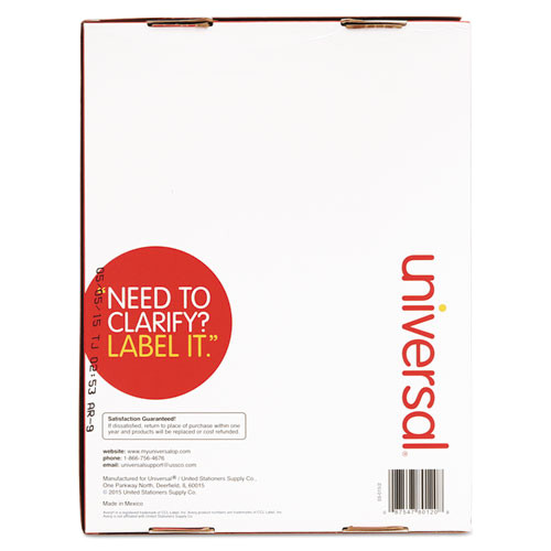 laser printer permanent labels 1 x 2 58 white 7500box unv80120