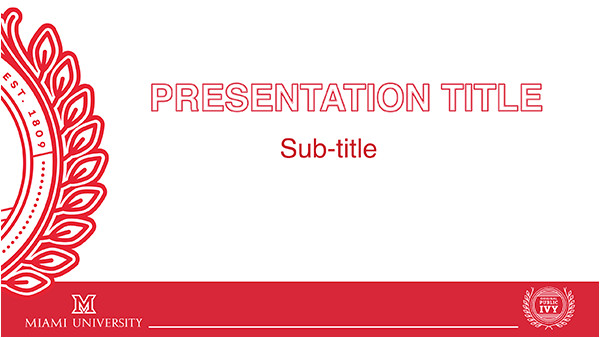 University Of Miami Powerpoint Template Powerpoint Templates the Miami Brand Ucm Miami