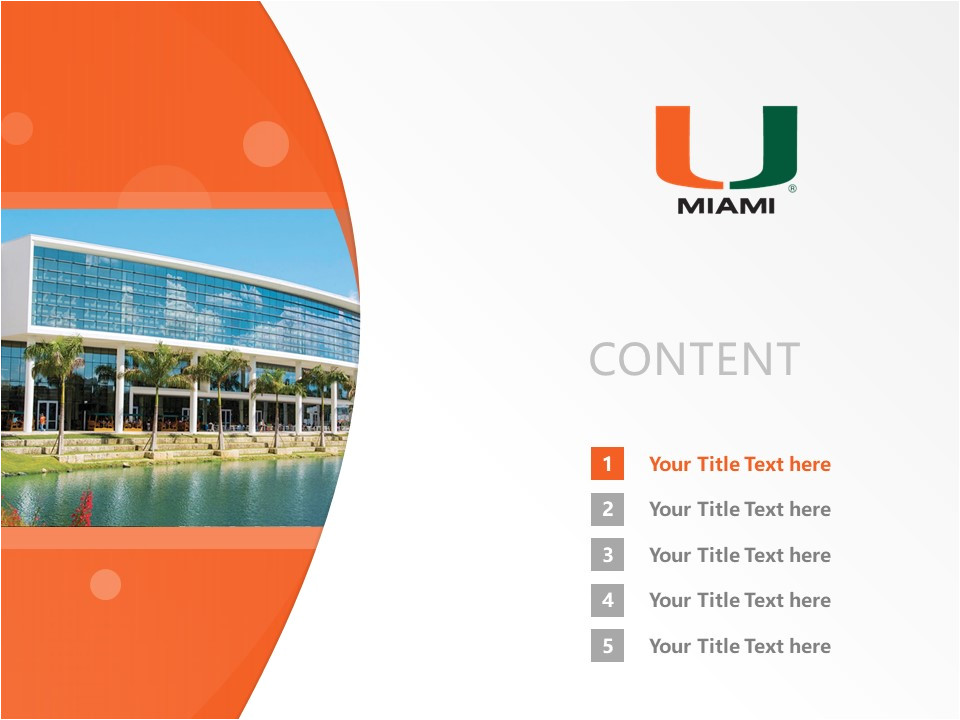 University Of Miami Powerpoint Template University Of Miami Powerpoint Template Download