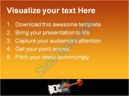 vector key to unlock security powerpoint templates and powerpoint backgrounds 0211