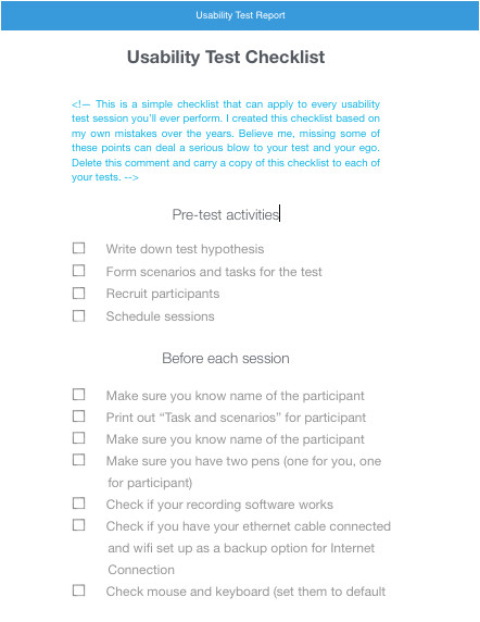 usability test kit
