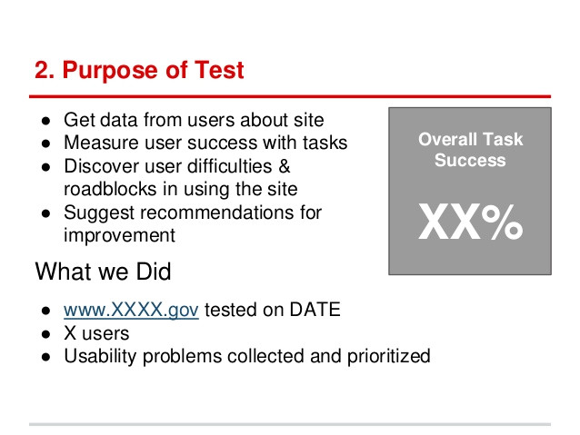 usability testing report template