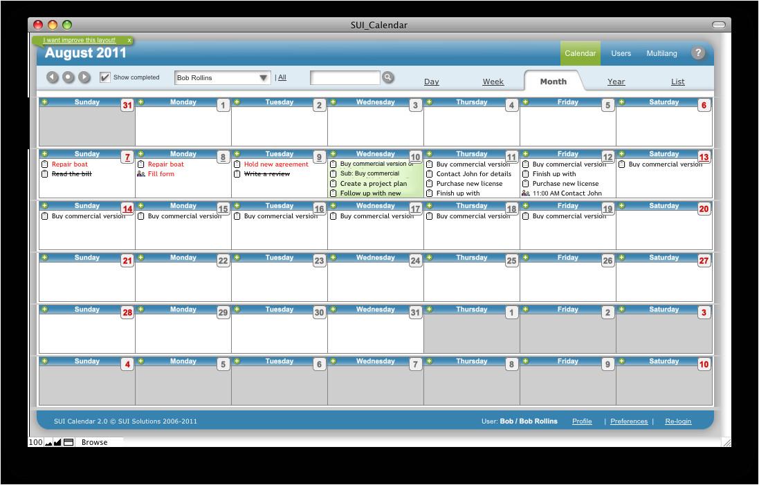 team calendar template