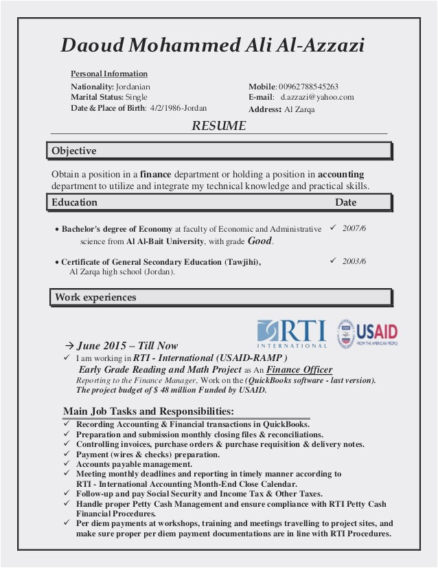Usaid Cv Template Find the Best Affordable Usaid Cv Template Trend