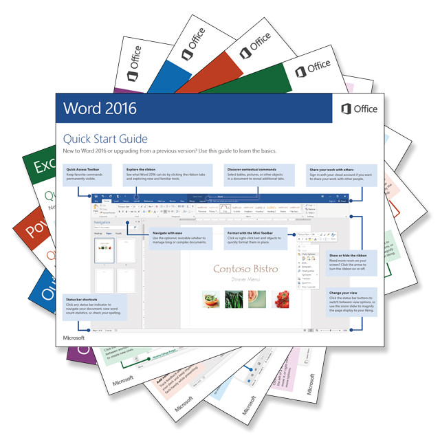 download our free office 2016 quick start guides